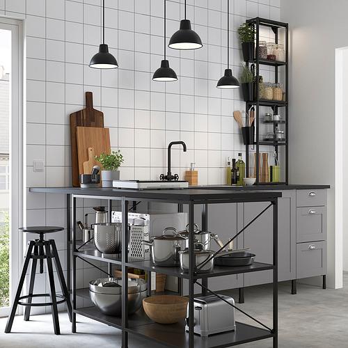 ENHET - 角位廚房, 炭黑色/灰色 框架   IKEA 香港及澳門 - PE795064_S4