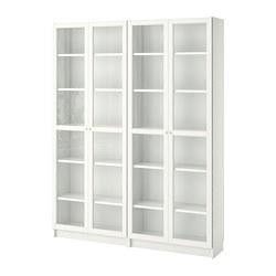 BILLY/OXBERG - bookcase, white/glass | IKEA Hong Kong and Macau - PE700284_S3