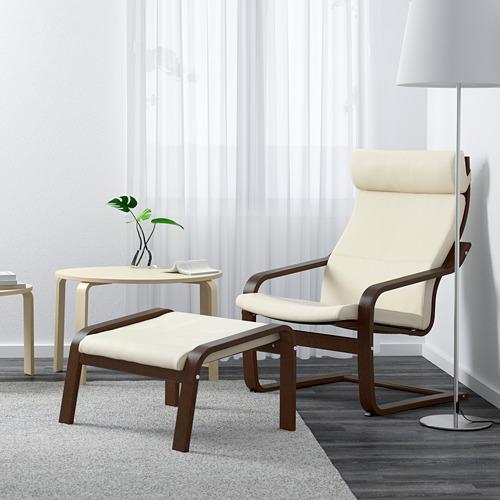 POÄNG - armchair, brown/Glose eggshell | IKEA Hong Kong and Macau - PE601124_S4