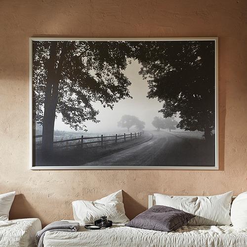BJÖRKSTA - 畫連框, 朦朧的鄉村小路/鋁色 | IKEA 香港及澳門 - PE840938_S4