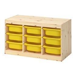 TROFAST - storage combination with boxes, light white stained pine/yellow | IKEA Hong Kong and Macau - PE653537_S3