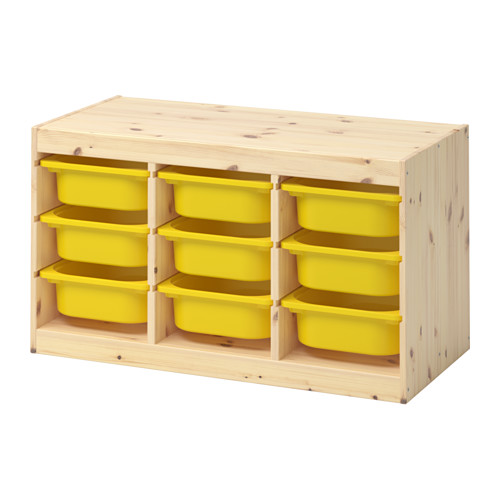 TROFAST - storage combination with boxes, light white stained pine/yellow | IKEA Hong Kong and Macau - PE653537_S4