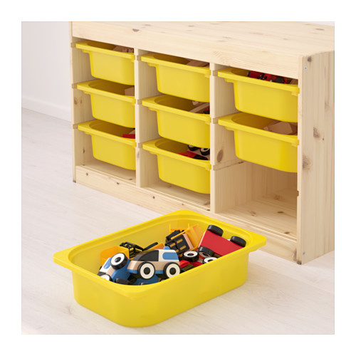 TROFAST - storage combination with boxes, light white stained pine/yellow | IKEA Hong Kong and Macau - PE653538_S4