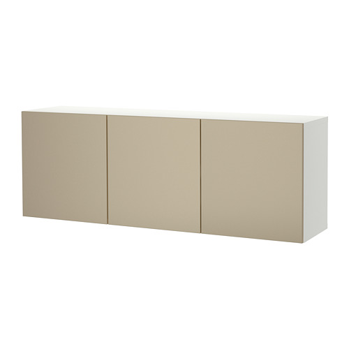 BESTÅ - 上牆式貯物組合, white/Riksviken light bronze effect   IKEA 香港及澳門 - PE742349_S4