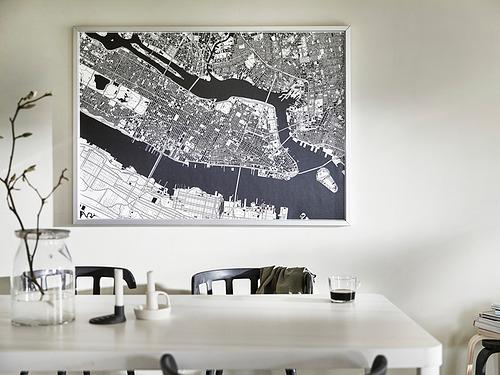 BJÖRKSTA - 畫連框, 俯瞰曼克頓/鋁色   IKEA 香港及澳門 - PE840946_S4