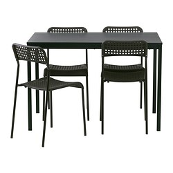 TÄRENDÖ/ADDE - table and 4 chairs, black/black | IKEA Hong Kong and Macau - PE381442_S3