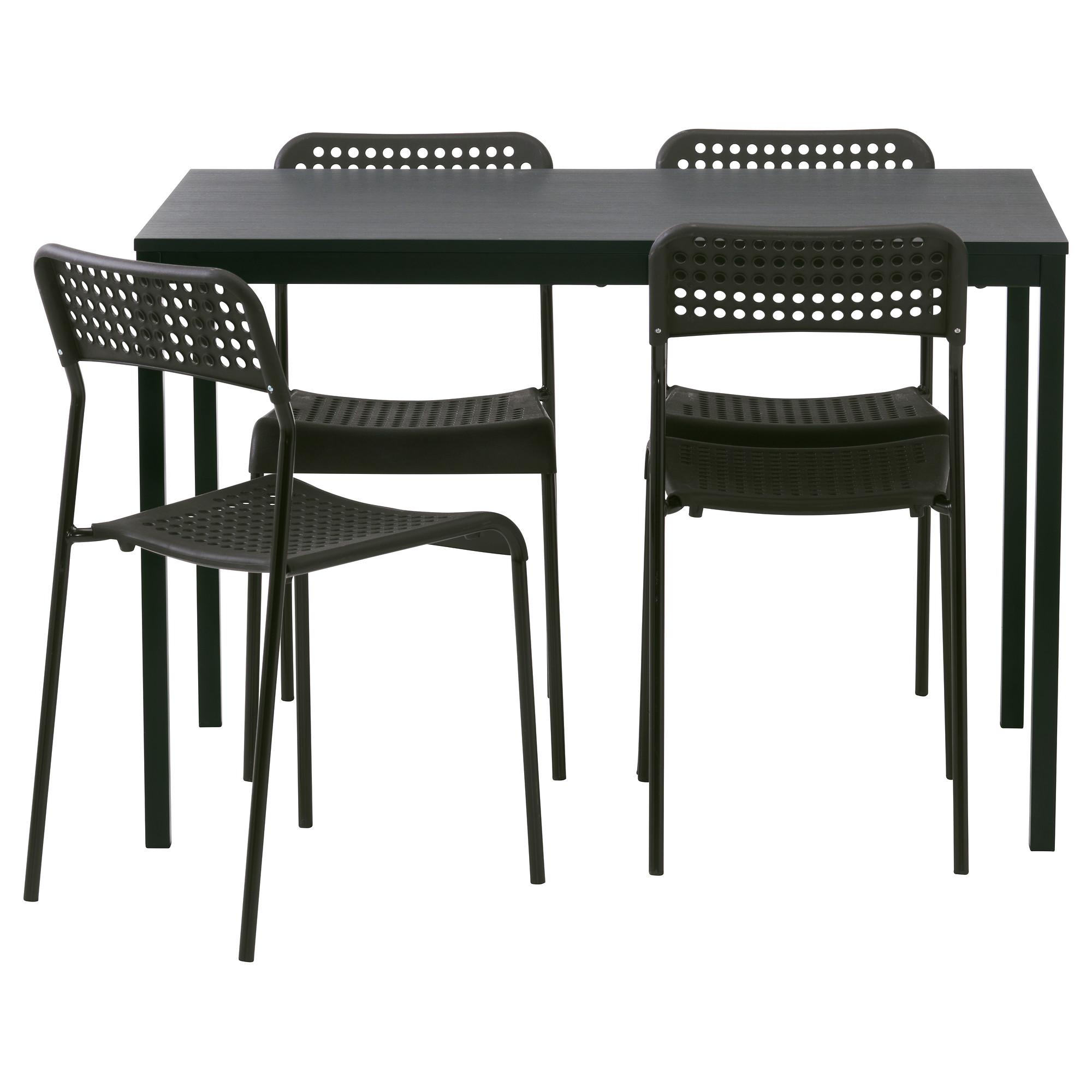 TÄRENDÖ/ADDE, table and 9 chairs, black/black
