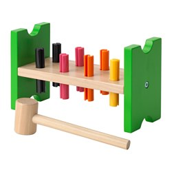 MULA - 玩具鎚擊塊, 彩色/樺木 | IKEA 香港及澳門 - PE547795_S3