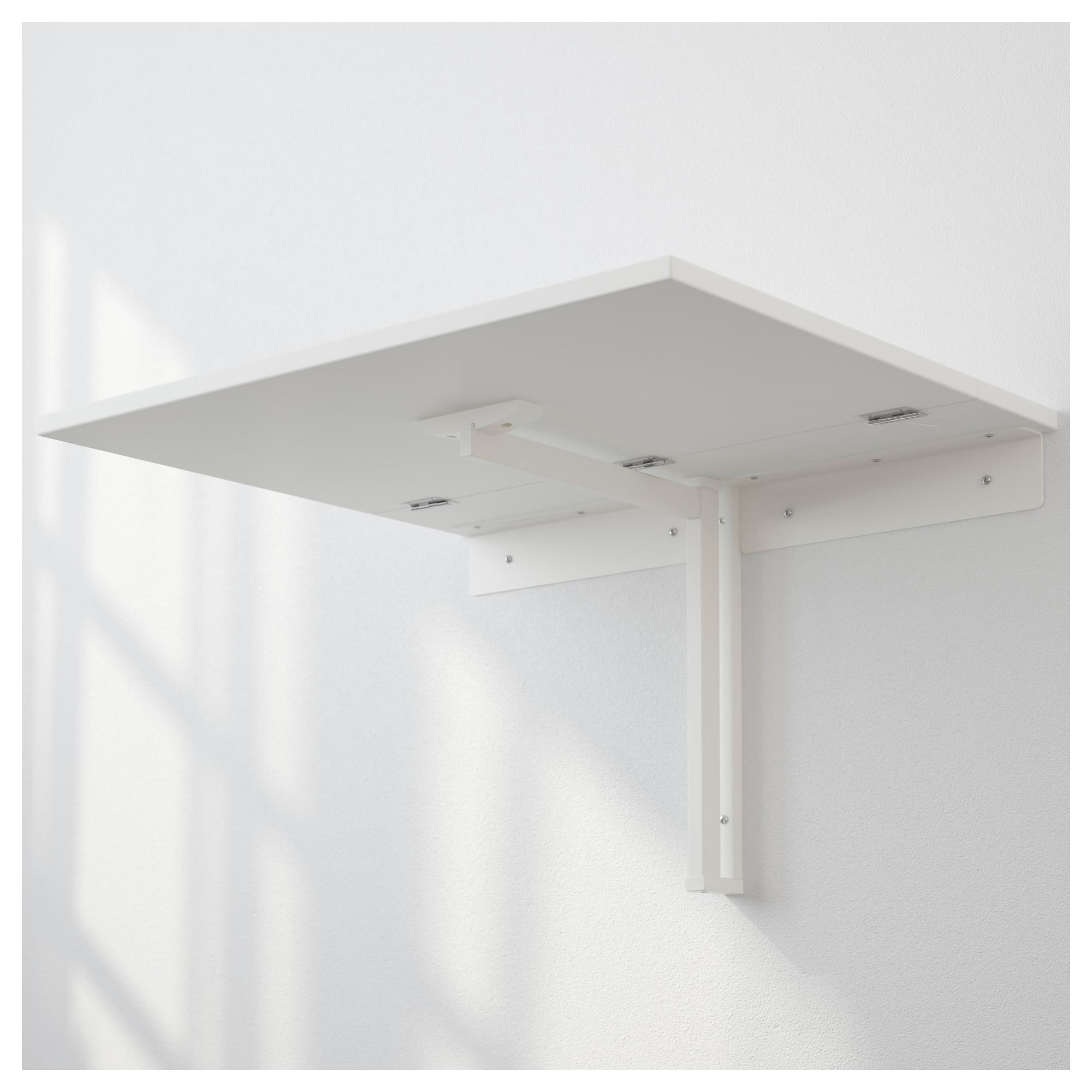 - NORBERG - Wall-mounted Drop-leaf Table, White IKEA Hong Kong