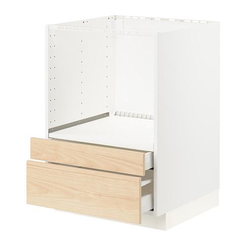 METOD/MAXIMERA - base cabinet f combi micro/drawers, white/Askersund light ash effect | IKEA Hong Kong and Macau - PE795706_S4