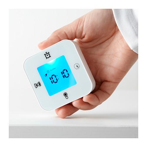 KLOCKIS - clock/thermometer/alarm/timer, white | IKEA Hong Kong and Macau - PE593559_S4