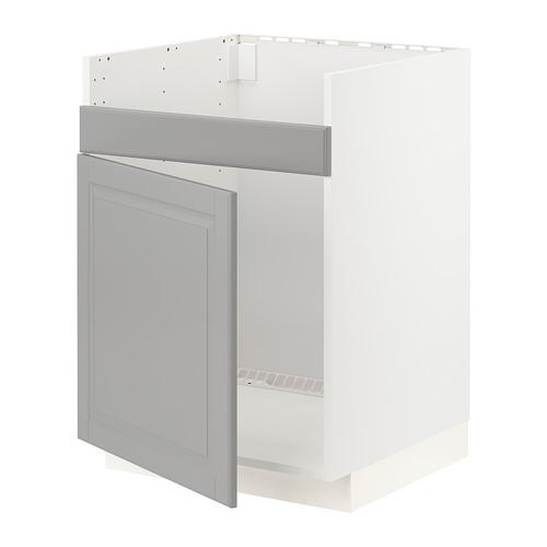 METOD - HAVSEN單星盆底櫃, 白色/Bodbyn 灰色 | IKEA 香港及澳門 - PE795850_S4