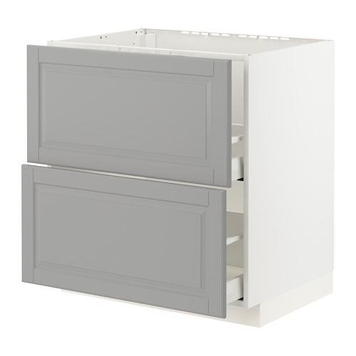 METOD/MAXIMERA - base cab f sink+2 fronts/2 drawers, white/Bodbyn grey | IKEA Hong Kong and Macau - PE795854_S4