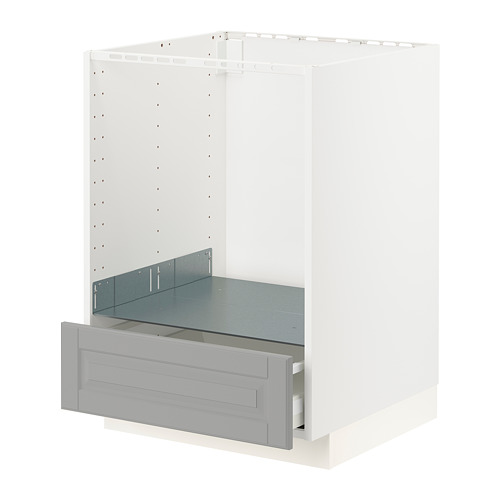 METOD/MAXIMERA - base cabinet for oven with drawer, white/Bodbyn grey | IKEA Hong Kong and Macau - PE795865_S4