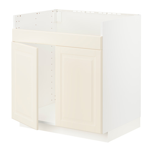 METOD - base cab f HAVSEN double bowl sink, white/Bodbyn off-white | IKEA Hong Kong and Macau - PE795897_S4