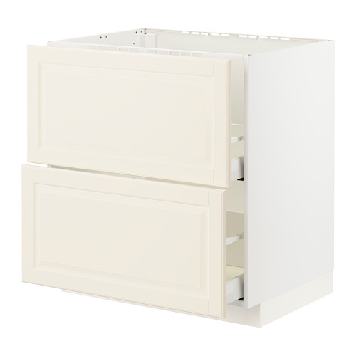 METOD/MAXIMERA - base cab f sink+2 fronts/2 drawers, white/Bodbyn off-white | IKEA Hong Kong and Macau - PE795887_S4