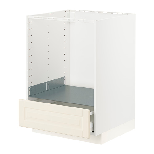 METOD/MAXIMERA - base cabinet for oven with drawer, white/Bodbyn off-white | IKEA Hong Kong and Macau - PE795910_S4