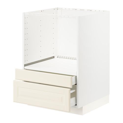 METOD/MAXIMERA - base cabinet f combi micro/drawers, white/Bodbyn off-white | IKEA Hong Kong and Macau - PE795888_S4