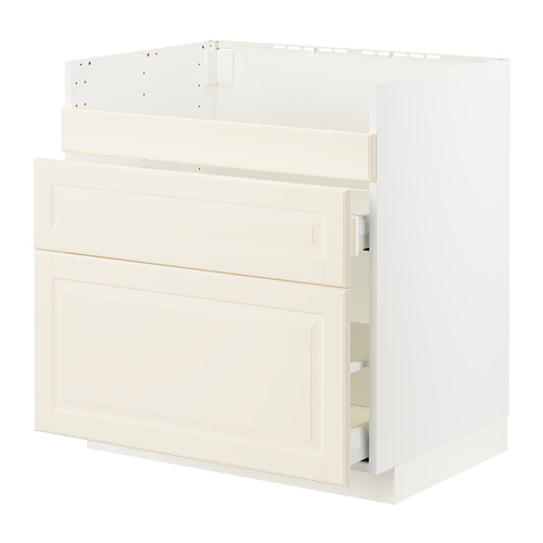 METOD/MAXIMERA - HAVSEN星盆用地櫃連3面板/2抽屜, white/Bodbyn off-white | IKEA 香港及澳門 - PE795886_S4