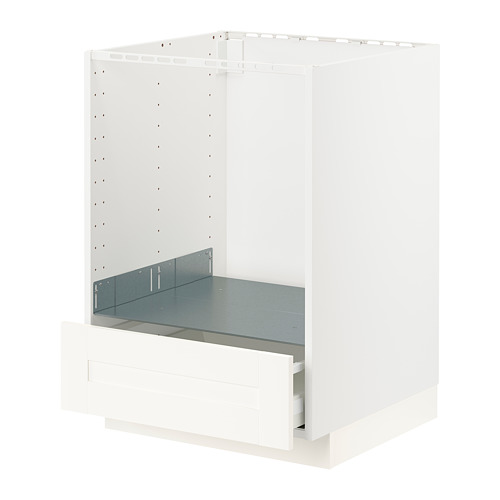 METOD/MAXIMERA - 焗爐用地櫃連抽屜, white/Sävedal white | IKEA 香港及澳門 - PE796005_S4