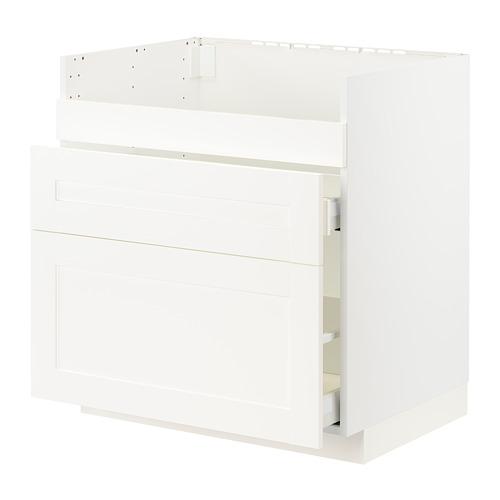 METOD/MAXIMERA - HAVSEN星盆用地櫃連3面板/2抽屜, white/Sävedal white | IKEA 香港及澳門 - PE796013_S4