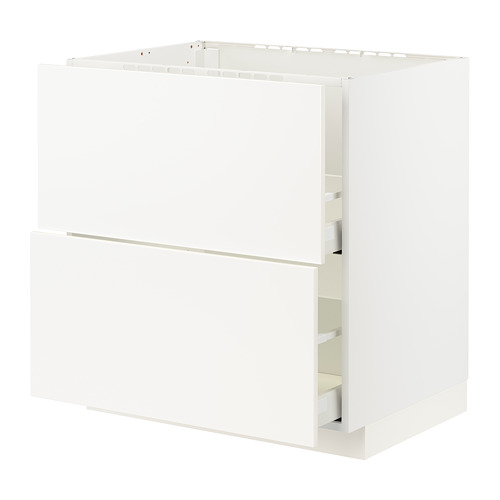 METOD/MAXIMERA base cab f sink+2 fronts/2 drawers