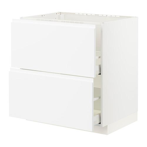 METOD/MAXIMERA - base cab f sink+2 fronts/2 drawers, white/Voxtorp matt white | IKEA Hong Kong and Macau - PE796075_S4