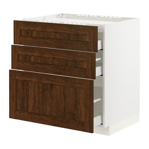METOD/MAXIMERA base cab f hob/3 fronts/3 drawers