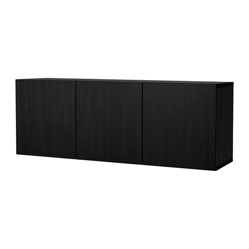 BESTÅ - wall-mounted cabinet combination, black-brown/Lappviken black-brown | IKEA Hong Kong and Macau - PE653912_S4