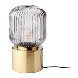 SOLKLINT - 座檯燈, 黃銅/灰色透明玻璃 | IKEA 香港及澳門 - PE781832_S3