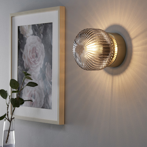 SOLKLINT wall lamp, wired-in installation