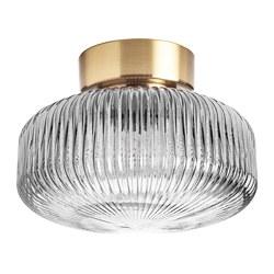 SOLKLINT - 天花燈, 黃銅/灰色透明玻璃   IKEA 香港及澳門 - PE778939_S3