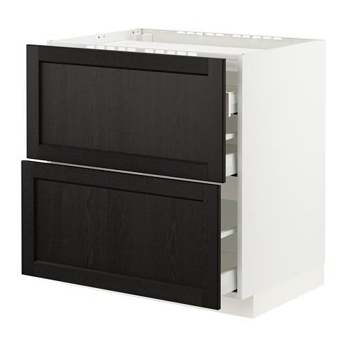 METOD/MAXIMERA 爐具地櫃連2面板/3抽屜