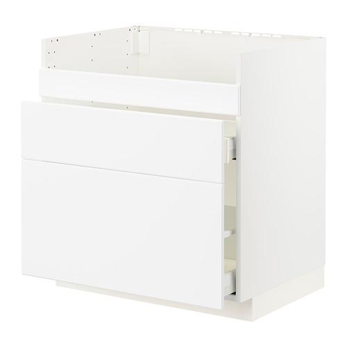 METOD/MAXIMERA - base cb f HAVSEN snk/3 frnts/2 drws, white/Kungsbacka matt white | IKEA Hong Kong and Macau - PE796029_S4