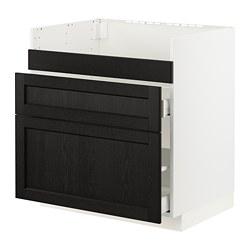 METOD/MAXIMERA - HAVSEN星盆用地櫃連3面板/2抽屜, white/Lerhyttan black stained   IKEA 香港及澳門 - PE796126_S3