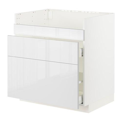 METOD/MAXIMERA HAVSEN星盆用地櫃連3面板/2抽屜
