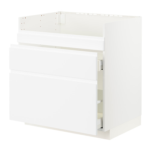 METOD/MAXIMERA - base cb f HAVSEN snk/3 frnts/2 drws, white/Voxtorp matt white | IKEA Hong Kong and Macau - PE796032_S4