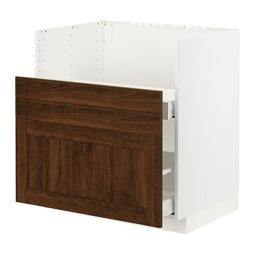METOD/MAXIMERA - bc f BREDSJÖN sink/2 fronts/2 drws, white/Edserum brown | IKEA Hong Kong and Macau - PE796044_S4
