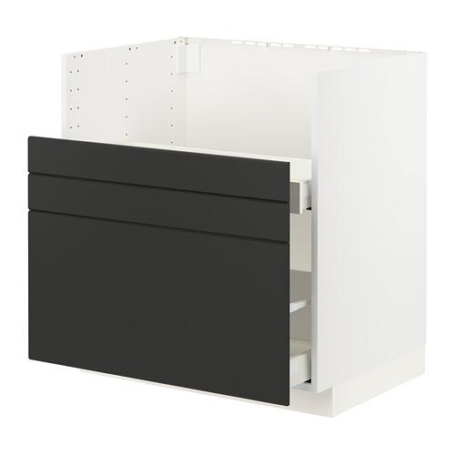 METOD/MAXIMERA - bc f BREDSJÖN sink/2 fronts/2 drws, white/Kungsbacka anthracite | IKEA Hong Kong and Macau - PE796034_S4