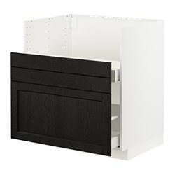 METOD/MAXIMERA - BREDSJÖN星盆用地櫃/2面板/2抽屜, white/Lerhyttan black stained   IKEA 香港及澳門 - PE796133_S3