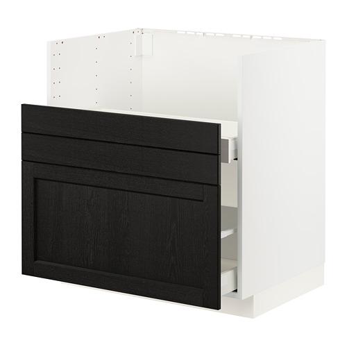 METOD/MAXIMERA - BREDSJÖN星盆用地櫃/2面板/2抽屜, white/Lerhyttan black stained | IKEA 香港及澳門 - PE796133_S4