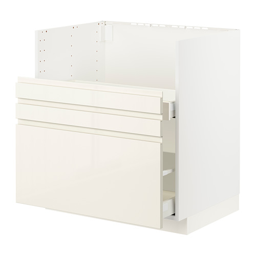 METOD/MAXIMERA - bc f BREDSJÖN sink/2 fronts/2 drws, white/Voxtorp high-gloss light beige | IKEA Hong Kong and Macau - PE796123_S4