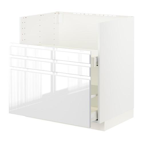 METOD/MAXIMERA - bc f BREDSJÖN sink/2 fronts/2 drws, white/Voxtorp high-gloss/white   IKEA Hong Kong and Macau - PE796119_S4