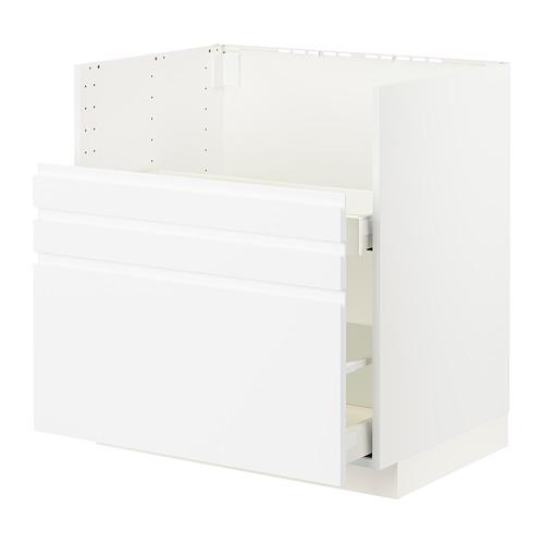METOD/MAXIMERA - bc f BREDSJÖN sink/2 fronts/2 drws, white/Voxtorp matt white | IKEA Hong Kong and Macau - PE796120_S4