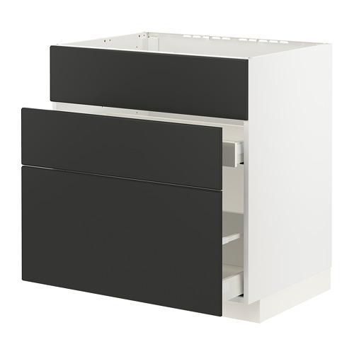 METOD/MAXIMERA - 星盆用地櫃連3面板/2抽屜, white/Kungsbacka anthracite   IKEA 香港及澳門 - PE796175_S4