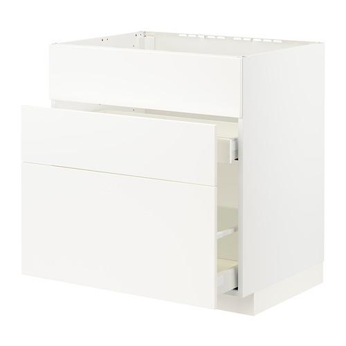 METOD/MAXIMERA - 星盆用地櫃連3面板/2抽屜, white/Veddinge white | IKEA 香港及澳門 - PE796170_S4