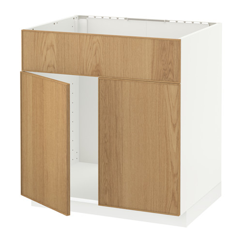 METOD 星盆用地櫃連一對門/面板