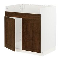METOD - HAVSEN雙星盆底櫃, 白色/Edserum 褐色 | IKEA 香港及澳門 - PE796273_S3