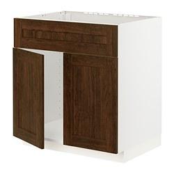 METOD - 星盆用地櫃連一對門/面板, white/Edserum brown   IKEA 香港及澳門 - PE796288_S3