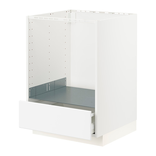 METOD/MAXIMERA - base cabinet for oven with drawer, white/Kungsbacka matt white | IKEA Hong Kong and Macau - PE796257_S4